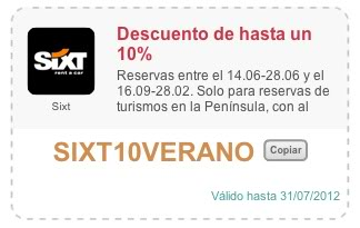 descuento sixt alquilar coche